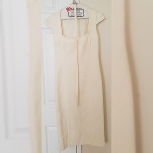 Vintage Le Chateau Cream Dress w belt